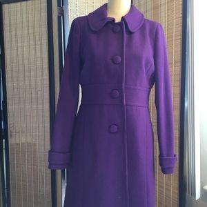 Purple J Crew Dress Coat